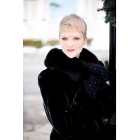 Black Fur Collar