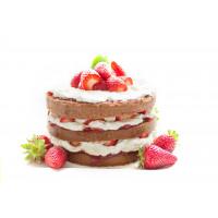 STRAWBERRY BEAD CAKE