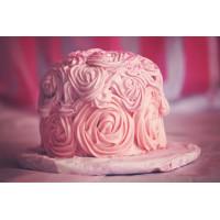 STRAWBERRY-ROSE CAKE