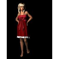 Evening Red Dress
